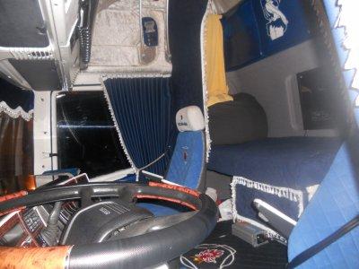 Interieur du scania de guillaume tps bonnet les plus bo for Interieur camion scania