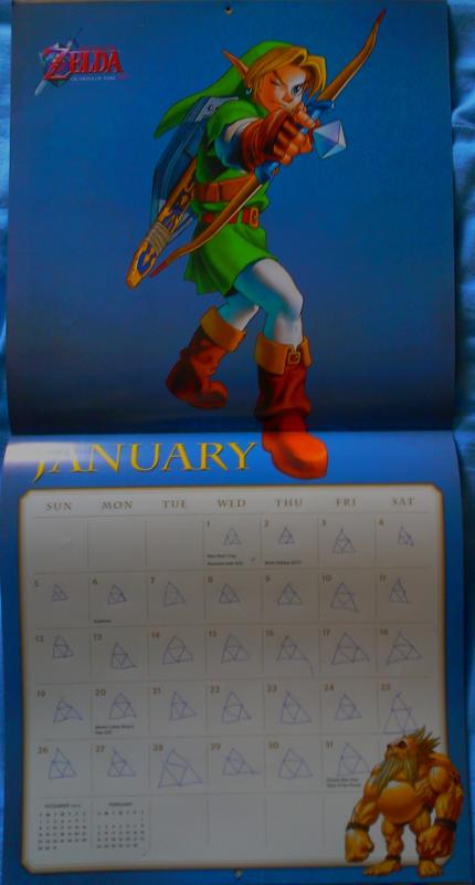Calendrier Zelda 2014 (Janvier)