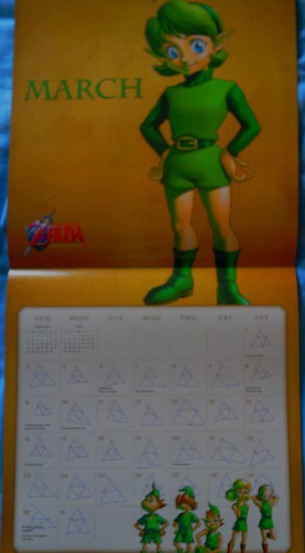 Calendrier Zelda 2014 (Mars)