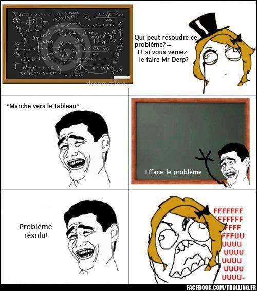 Résoudre un problème pendant un cour de Math