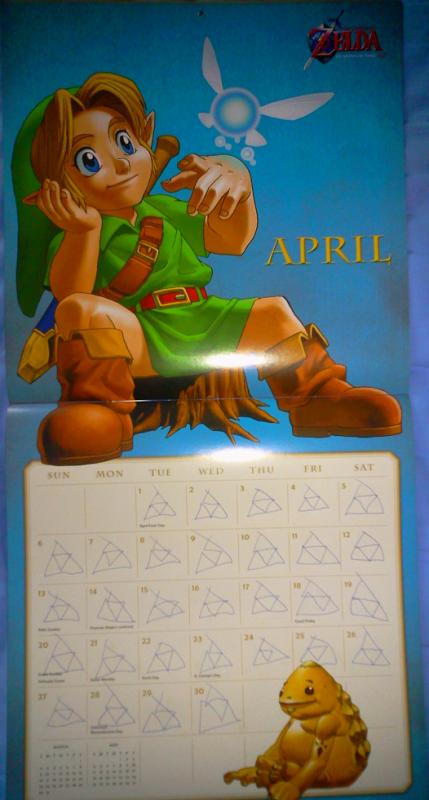 Calendrier Zelda 2014 (Avril)