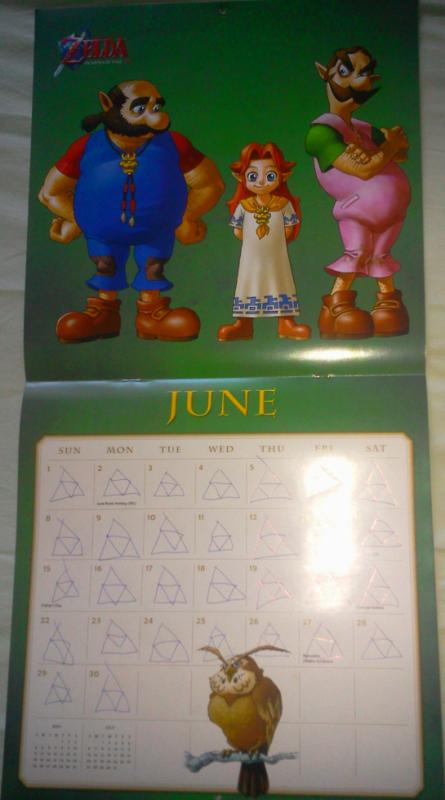Calendrier Zelda 2014 (Juin)