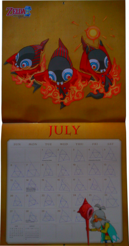 Calendrier Zelda 2014 (Juillet)