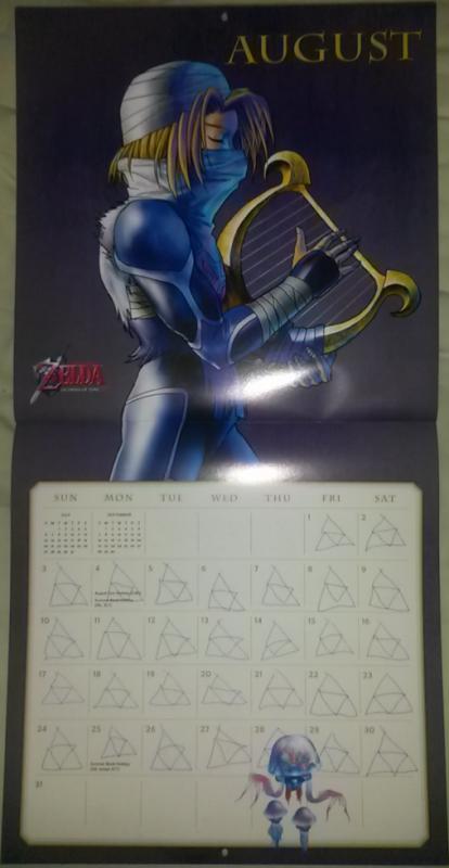 Calendrier Zelda 2014 (Août)