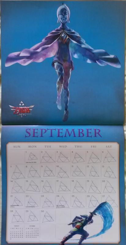 Calendrier Zelda 2014 (Septembre)