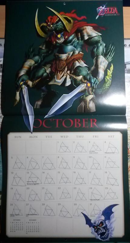 Calendrier Zelda 2014 (Octobre)