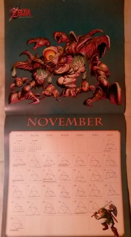 Calendrier Zelda 2014 (Novembre)