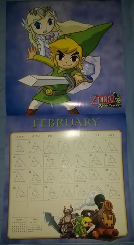 Calendrier Zelda 2015 (Février)
