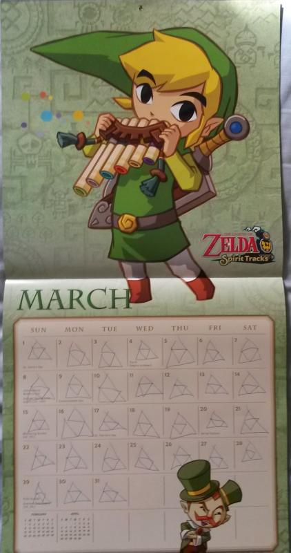Calendrier Zelda 2015 (Mars)