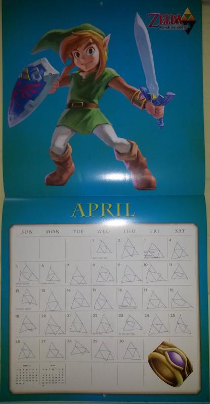 Calendrier Zelda 2015 (Avril)