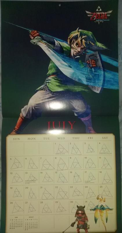 Calendrier Zelda 2015 (Juillet)