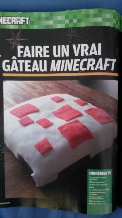 Recette pour faire un vrai gâteau Mincraft