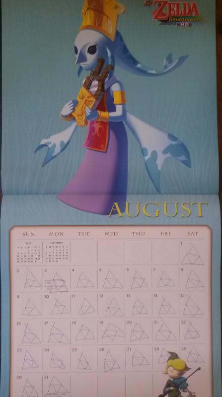 Calendrier Zelda 2015 (Août)