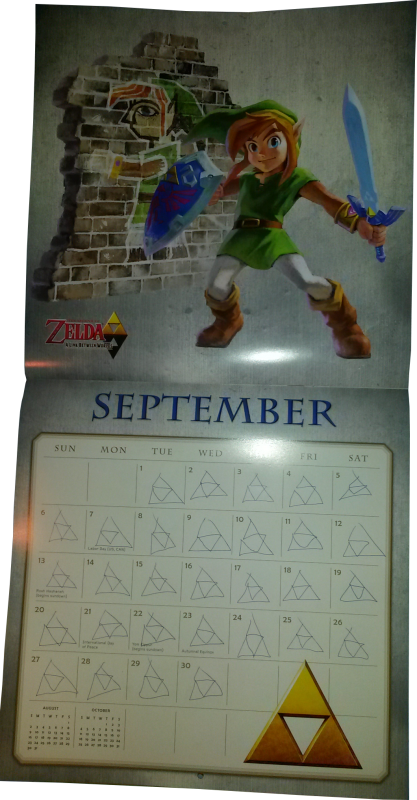 Calendrier Zelda 2015 (Septembre)