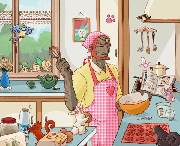 Ganon ce met à la cuisine