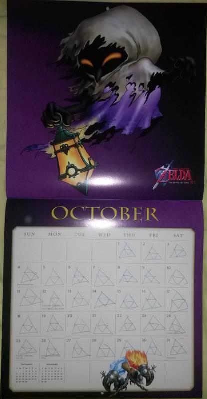 Calendrier Zelda 2015 (Octobre)
