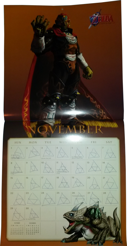Calendrier Zelda 2015 (Novembre)