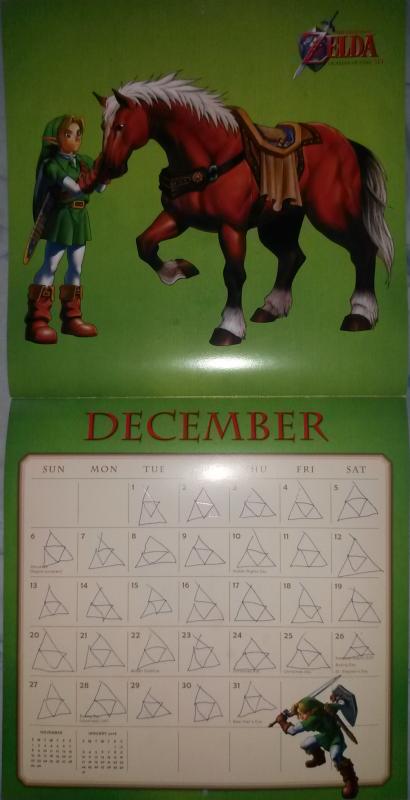 Calendrier Zelda 2015 (Décembre)