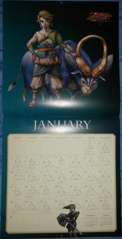 Calendrier Zelda 2016 (Janvier)