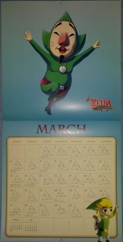 Calendrier Zelda 2016 (Mars)