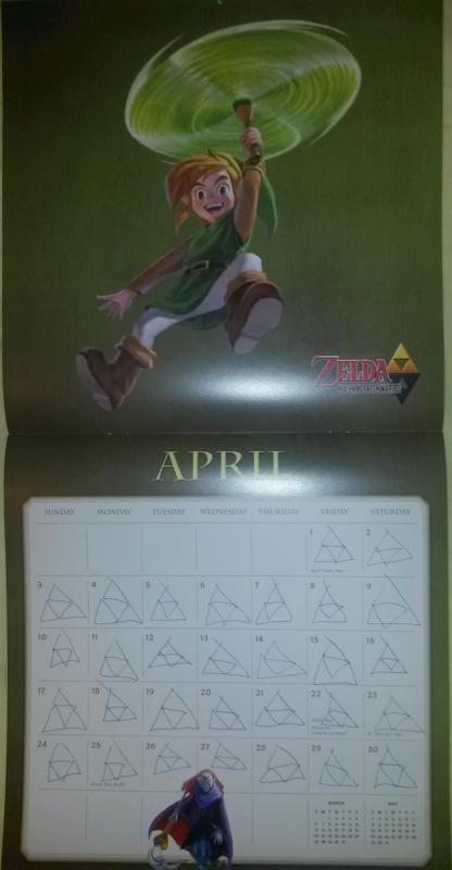 Calendrier Zelda 2016 (Avril)