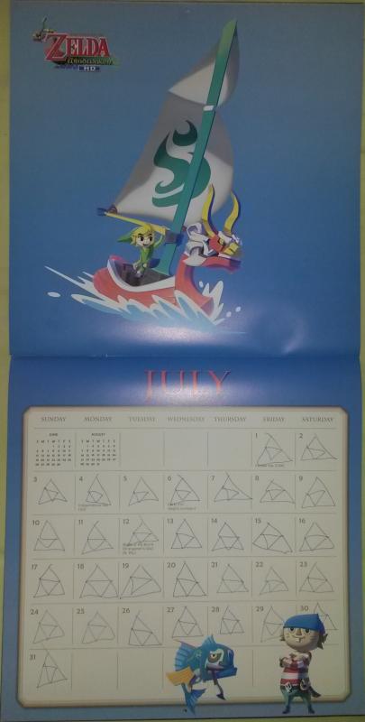 Calendrier Zelda 2016 (Juillet)