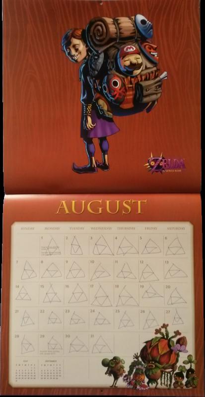 Calendrier Zelda 2016 (Août)
