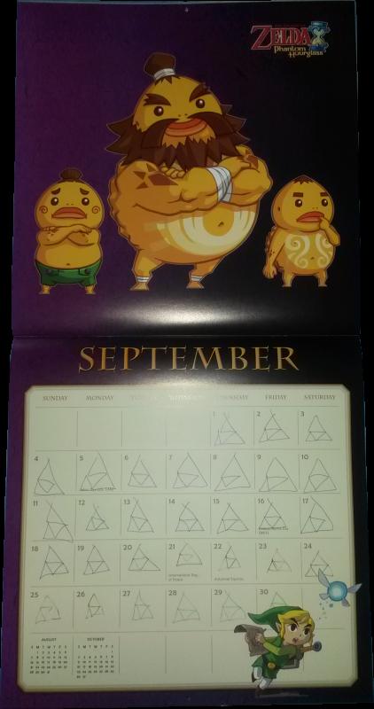 Calendrier Zelda 2016 (Septembre)