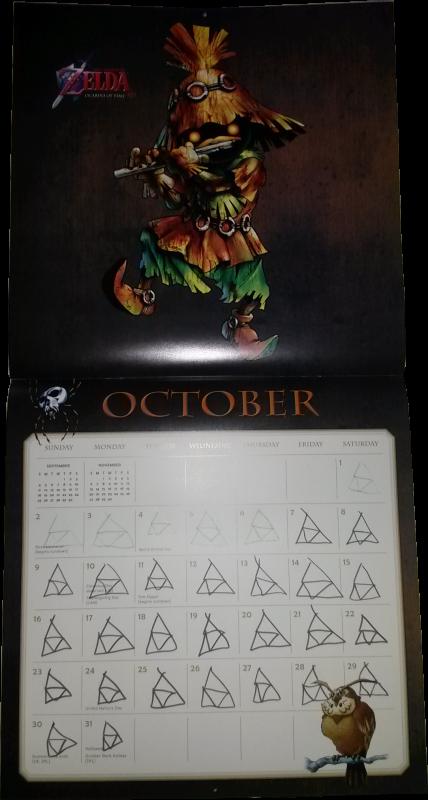 Calendrier Zelda 2016 (Octobre)