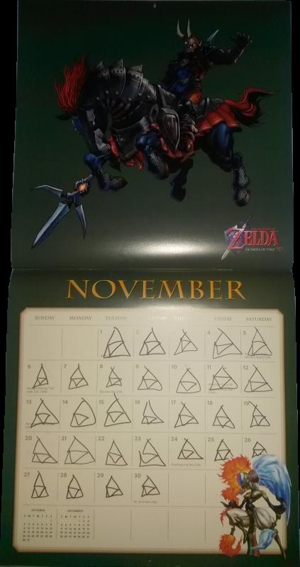 Calendrier Zelda 2016 (Novembre)