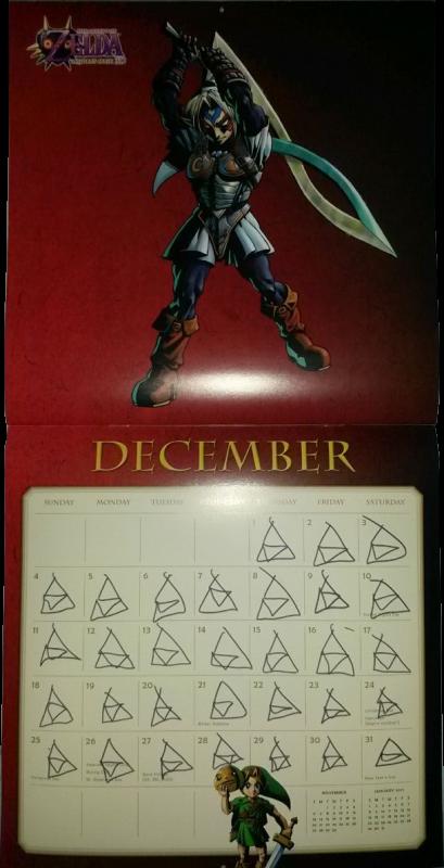 Calendrier Zelda 2016 (Décembre)
