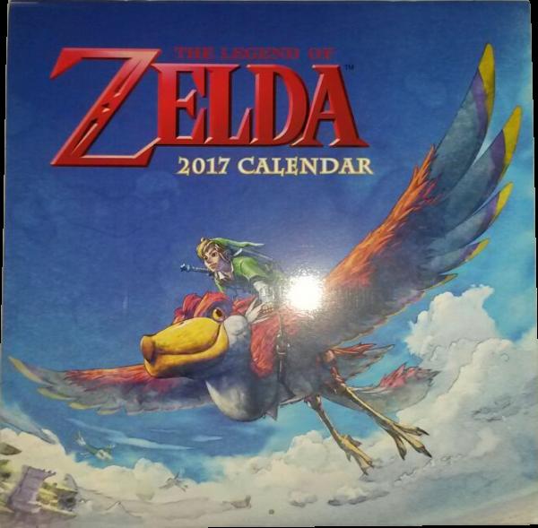 Calendrier Zelda 2017 (couverture)