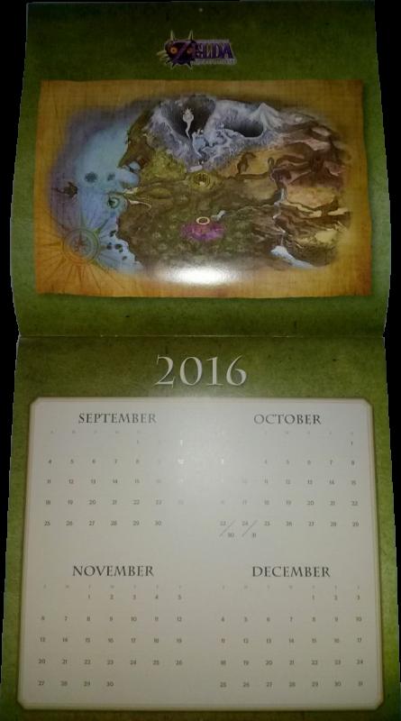 Calendrier Zelda 2017 (avant)
