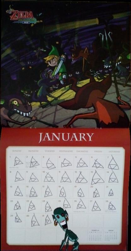 Calendrier Zelda 2017 (Janvier)