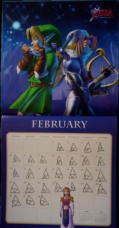 Calendrier Zelda 2017 (Février)