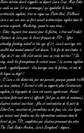 """biographie de notre belle """"Lara Croft"""""""
