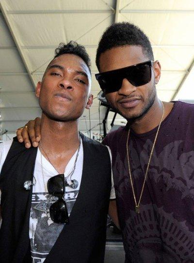 Usher et Miguel (celui a fait sa première partie de OMG Tour)