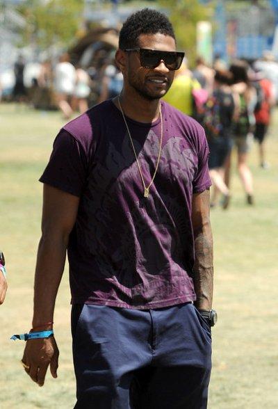 Usher et ses amis au festival 2011