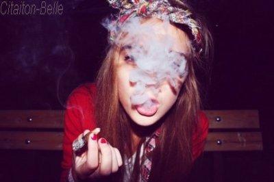 La cigarette .  .