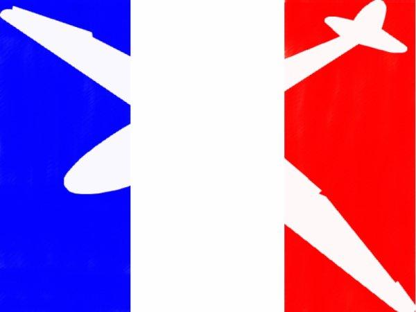 planneur + drapeau français