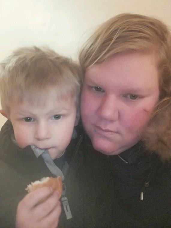 Mon fils et maman