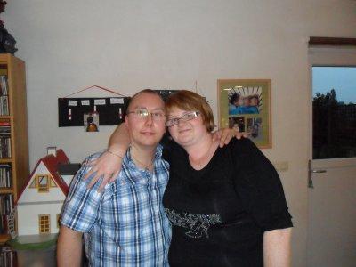moi et mon copain chez son frere