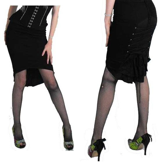 Jupe Crayon Necessary Evil pin up/Goth/gothique