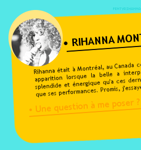 ••• PERFORMANCE DE RIHANNA ; 11 JUNE, 2011. MONTREAL, CANADA.