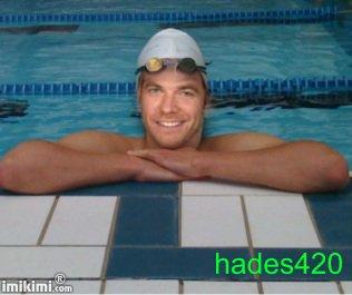 Garou en nageur