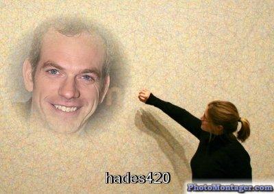 Garou dessiné sur un mur