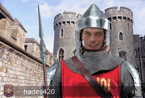 Garou en chevalier