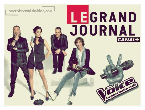 Garou et les coachs de The Voice au Grand Journal de Canal+