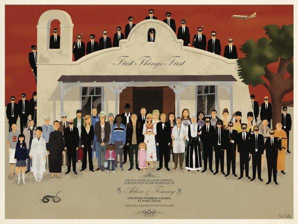 affiche exposition des Frères Coens los angeles