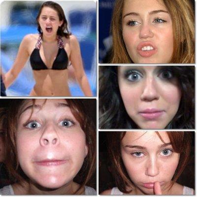 Oh les jolies grimaces de Miley ...